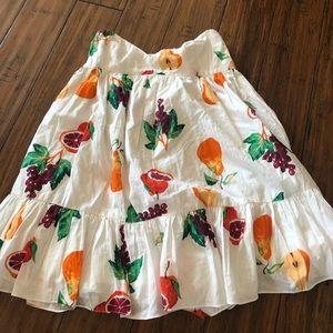 UO strapless fruit dress